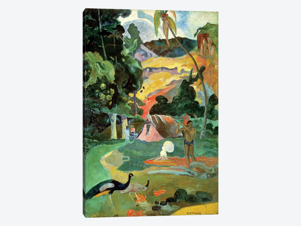 Matamoe (Landscape with Peacocks), 1892 by Paul Gauguin 1-piece Canvas Art Print