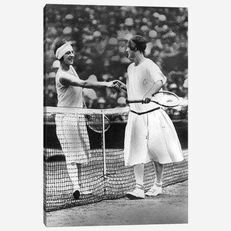 Women Finalists of Wimbledon Tennis Championship : Miss Fry and Suzanne Lenglen in 1925 Canvas Print #BMN8660} by Rue Des Archives Canvas Art