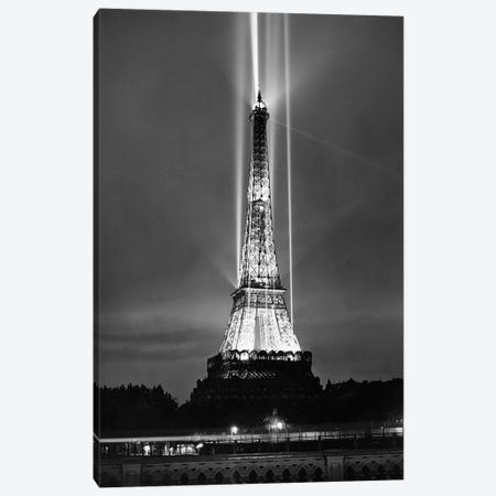 World fair in Paris, 1937 : illumination of the Eiffel Tower by night Canvas Print #BMN8661} by Rue Des Archives Canvas Artwork