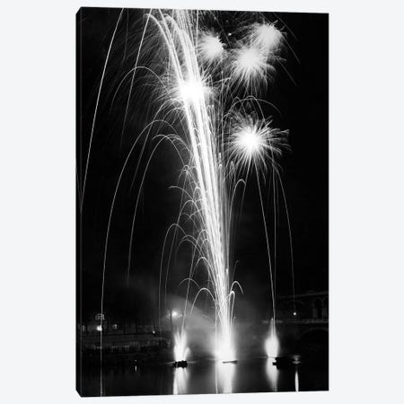 World Fair, Paris, 1937 : firewroks at the bridge of Auteuil Canvas Print #BMN8663} by Rue Des Archives Canvas Art