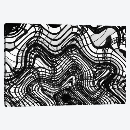 Black And White Ceiling Wavy, 2016  Canvas Print #BMN8667} by SVP Images Canvas Print