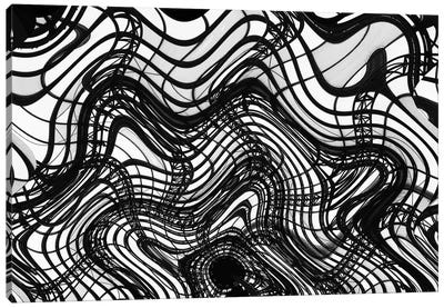Black And White Ceiling Wavy, 2016  Canvas Art Print