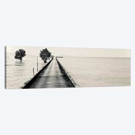 Black And White Pier Phuket, 2017  Canvas Print #BMN8669} by SVP Images Canvas Artwork