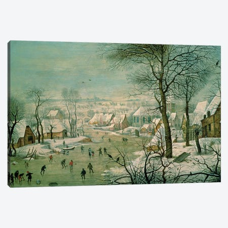 Winter Landscape  Canvas Print #BMN866} by Pieter Brueghel the Younger Canvas Art Print