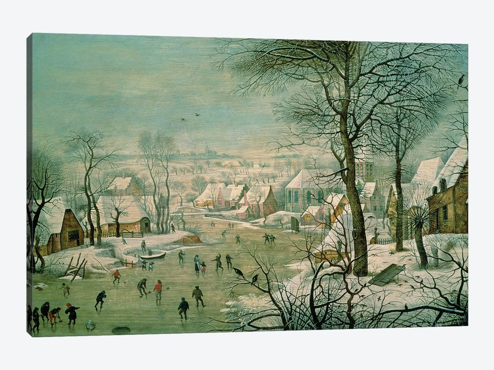 Winter Landscape  by Pieter Brueghel the Younger 1-piece Canvas Artwork