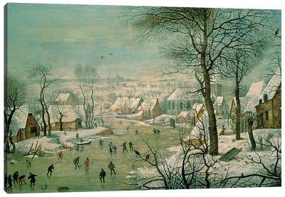 Winter Landscape  Canvas Art Print