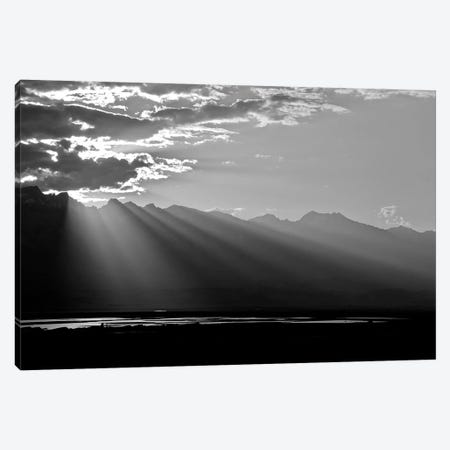 Clouds Rays In Black and White, 2018  Canvas Print #BMN8673} by SVP Images Canvas Art Print