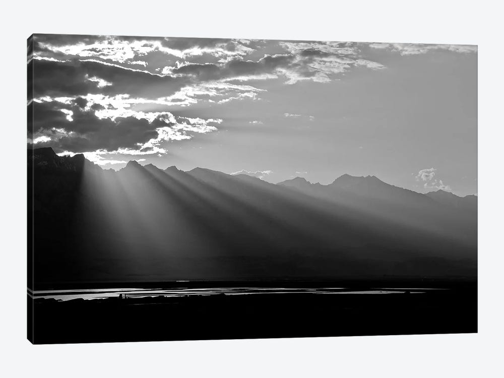 Clouds Rays In Black and White, 2018  by SVP Images 1-piece Canvas Artwork