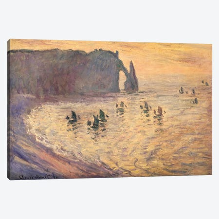 The Cliffs at Etretat, 1886 Canvas Print #BMN867} by Claude Monet Canvas Art Print