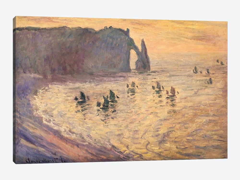 The Cliffs at Etretat, 1886 by Claude Monet 1-piece Canvas Art Print