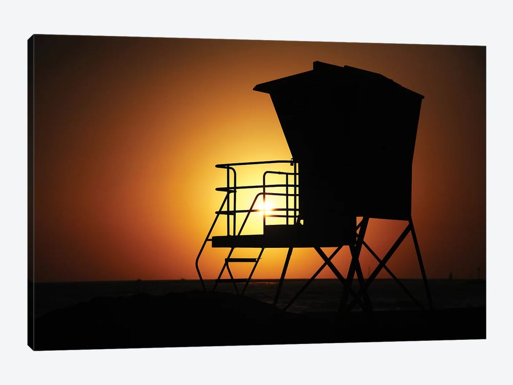 Lifeguard Sunset, 2013  by SVP Images 1-piece Canvas Print