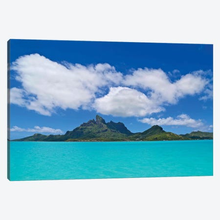 Love Over Bora Bora, 2015  Canvas Print #BMN8683} by SVP Images Canvas Artwork
