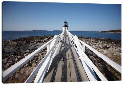 Maine Light House Walkway, 2008  Canvas Art Print