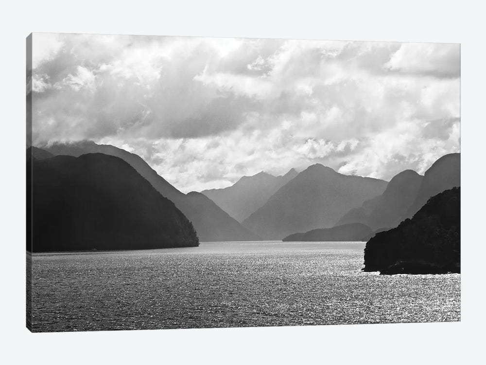 Mountain Layers In Black And White, 2018  by SVP Images 1-piece Canvas Art