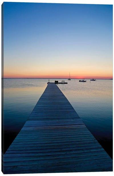Nantucket Dock At Sunset, 2016  Canvas Art Print