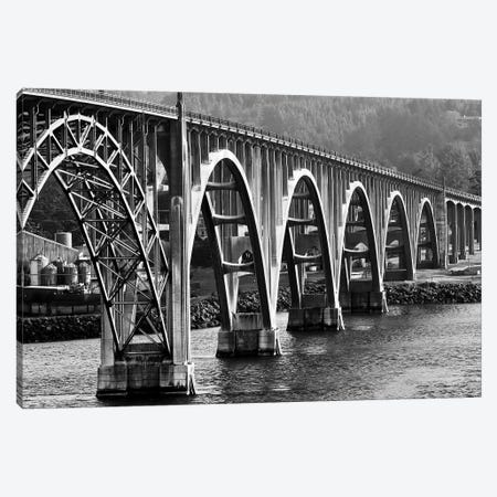 Oregon Bridge In Black And White, 2018  Canvas Print #BMN8688} by SVP Images Canvas Artwork