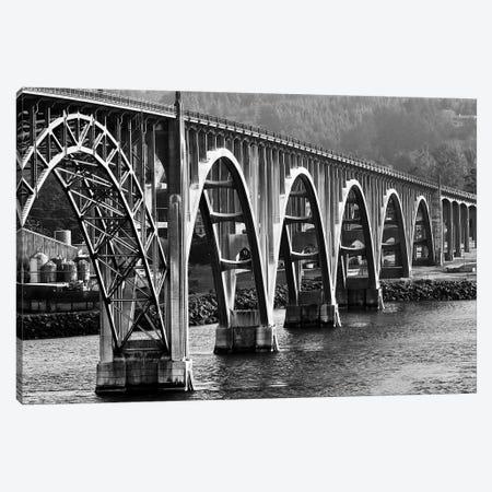 Oregon Bridge In Black And White, 2018  3-Piece Canvas #BMN8688} by SVP Images Canvas Artwork