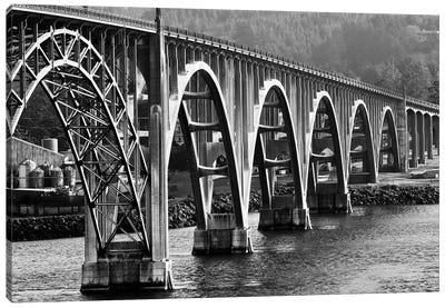 Oregon Bridge In Black And White, 2018  Canvas Art Print