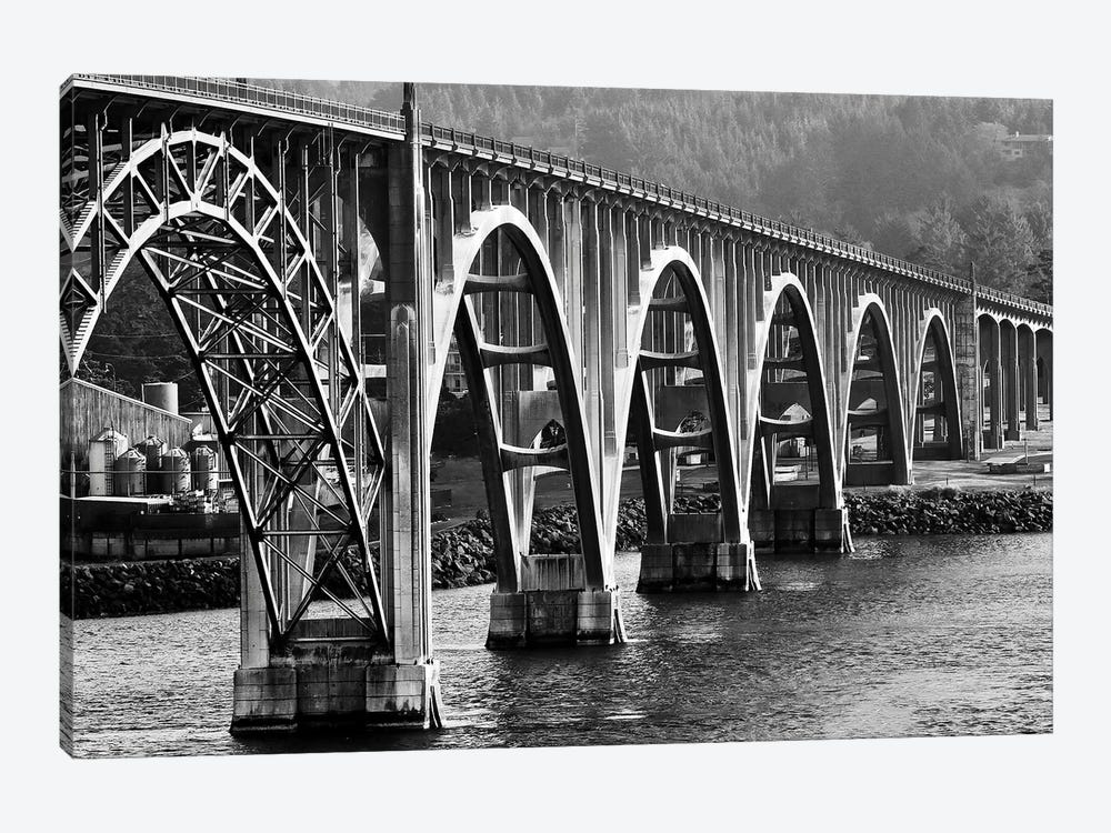 Oregon Bridge In Black And White, 2018  by SVP Images 1-piece Canvas Art