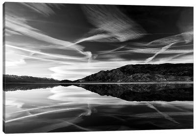 Owens lake reflection Canvas Art Print