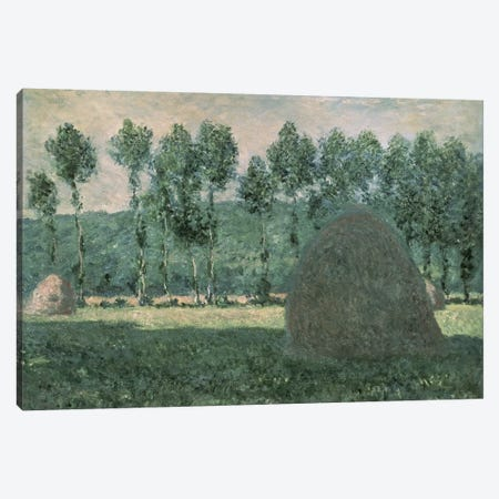 Haystacks near Giverny, c.1884-89  Canvas Print #BMN868} by Claude Monet Canvas Art
