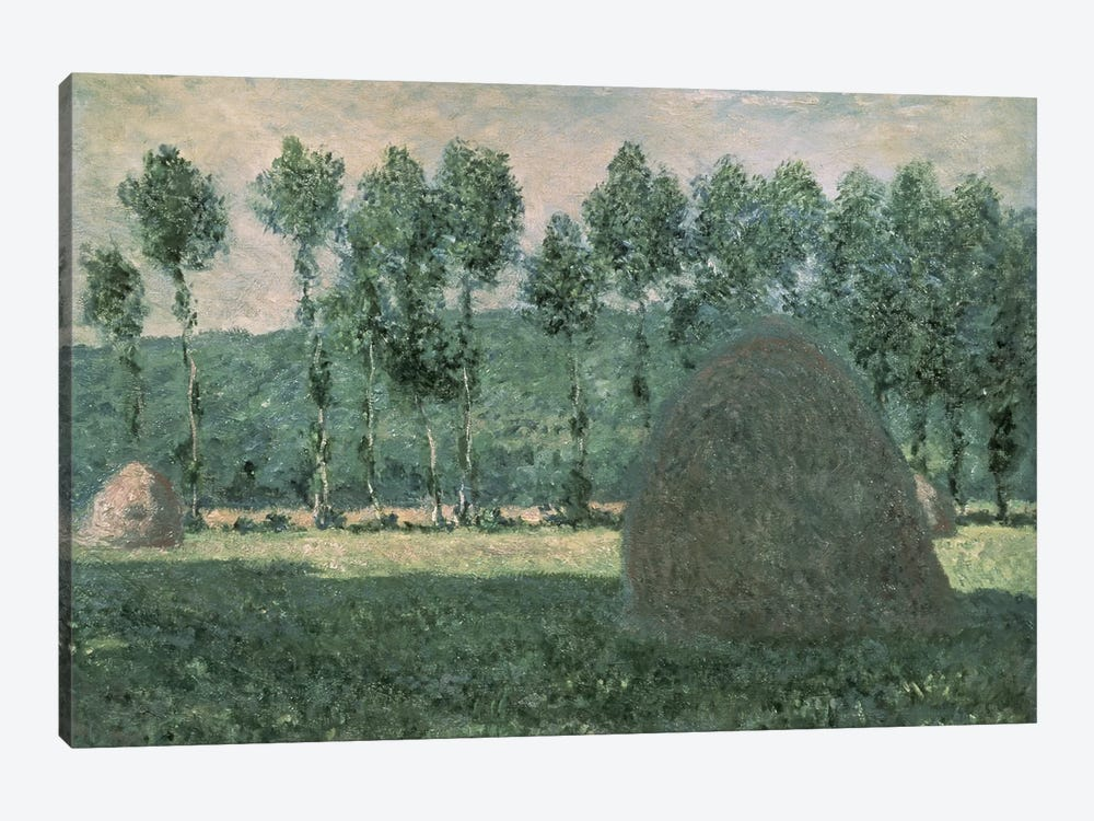 Haystacks near Giverny, c.1884-89  by Claude Monet 1-piece Canvas Artwork