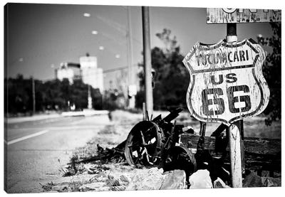 Route 66 Sign Black and White, 2017  Canvas Art Print