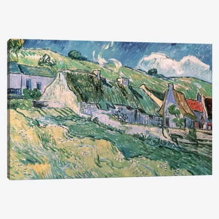 Cottages at Auvers-sur-Oise, 1890  Canvas Print #BMN870} by Vincent van Gogh Art Print