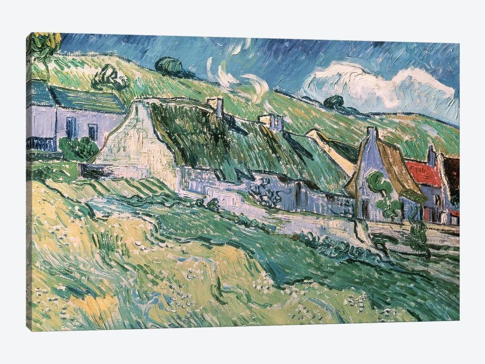Cottages at Auvers-sur-Oise, 1890  by Vincent van Gogh 1-piece Art Print