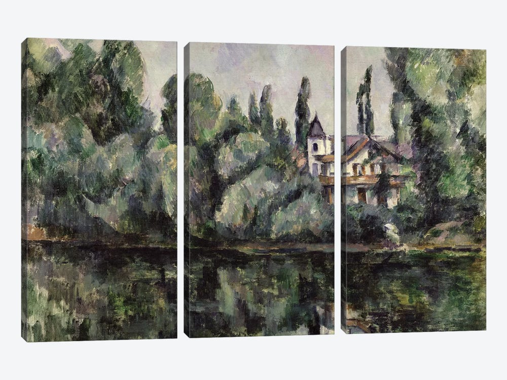 The Banks of the Marne, 1888  by Paul Cezanne 3-piece Canvas Art