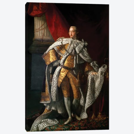 King George III, c.1762-64  Canvas Print #BMN8721} by Allan Ramsay Art Print