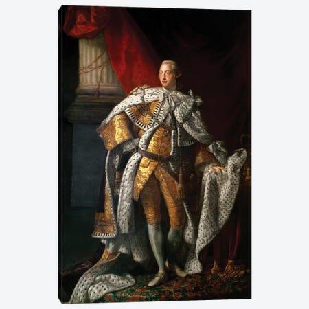 King George III, c.1762-64  Canvas Print #BMN8721} by Allan Ramsay Art Print