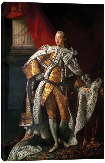 King George III, c.1762-64  Canvas Art Print