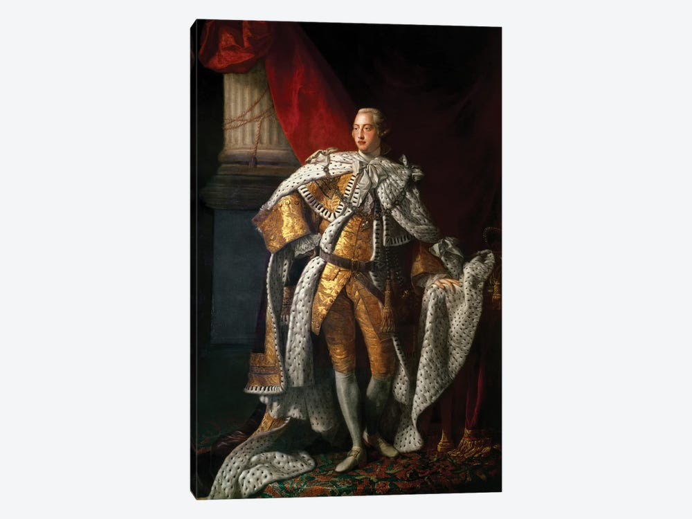 King George III, c.1762-64  by Allan Ramsay 1-piece Canvas Artwork