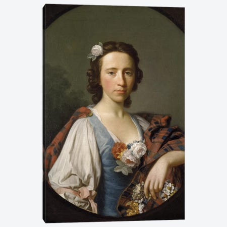 Portrait of Flora MacDonald  Canvas Print #BMN8723} by Allan Ramsay Canvas Print
