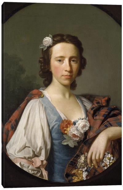 Portrait of Flora MacDonald  Canvas Art Print