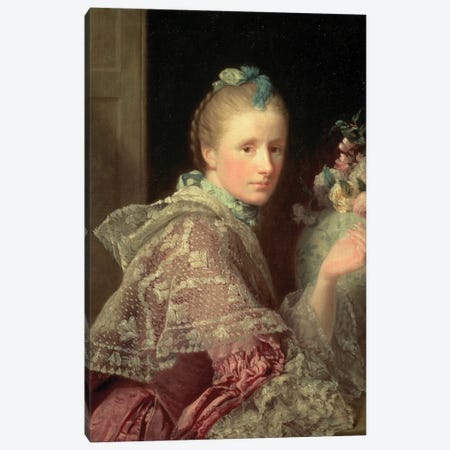 The Artist's Wife: Margaret Lindsay of Evelick, 1754-55  Canvas Print #BMN8724} by Allan Ramsay Canvas Art