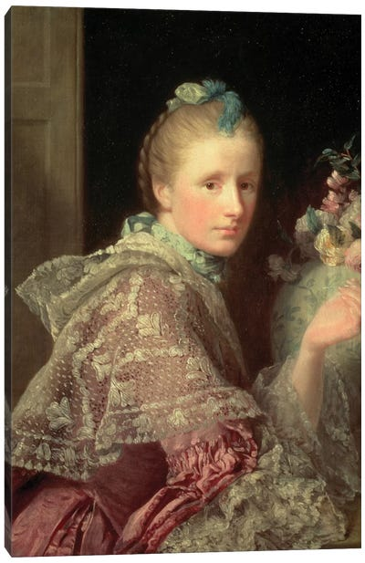 The Artist's Wife: Margaret Lindsay of Evelick, 1754-55  Canvas Art Print