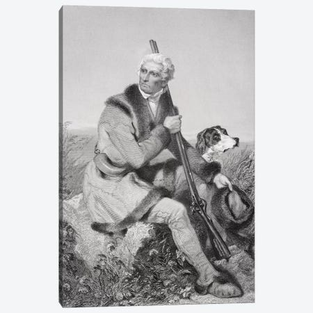 Portrait of Daniel Boone   Canvas Print #BMN8726} by Alonzo Chappel Canvas Wall Art