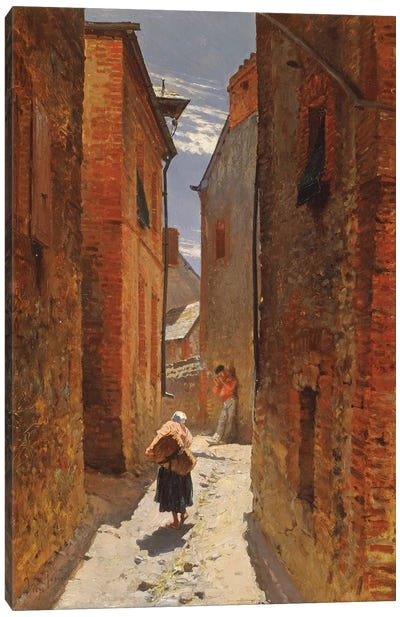 Street in the Old Town, 1873  Canvas Art Print