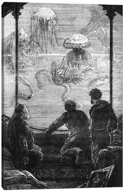 The Nautilus Passengers, illustration from '20,000 Leagues Under the Sea' Canvas Art Print