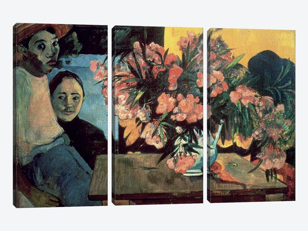 Te Tiare Farani  by Paul Gauguin 3-piece Canvas Print