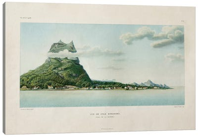 View of the Island of Bora Bora, in the Society Islands,  Canvas Art Print
