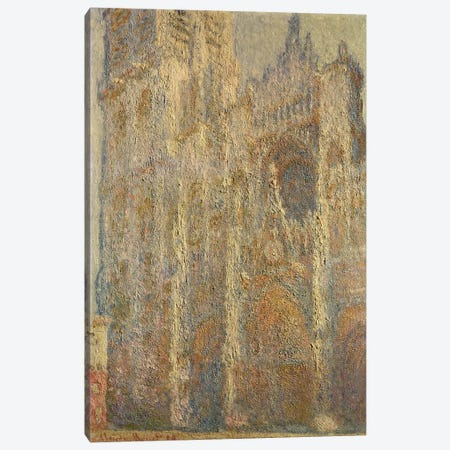 Rouen Cathedral, Midday, 1894  Canvas Print #BMN873} by Claude Monet Canvas Print