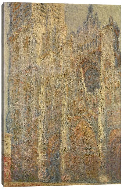 Rouen Cathedral, Midday, 1894  Canvas Print #BMN873