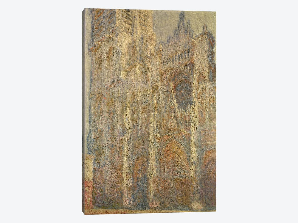 Rouen Cathedral, Midday, 1894 by Claude Monet 1-piece Canvas Wall Art