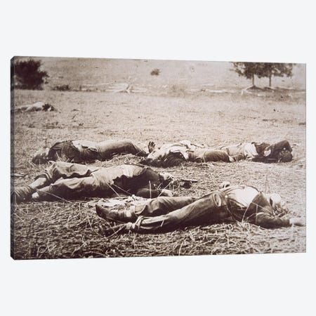 Dead on the Field of Gettysburg, July 1863  Canvas Print #BMN8741} by American Photographer Canvas Print