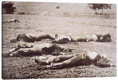 Dead on the Field of Gettysburg, July 1863  Canvas Art Print