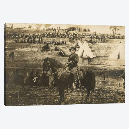 General Grant montage at City Point 3-Piece Canvas #BMN8742} by American Photographer Art Print