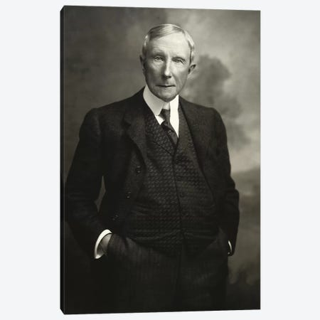 John D. Rockefeller Snr   Canvas Print #BMN8743} by American Photographer Art Print